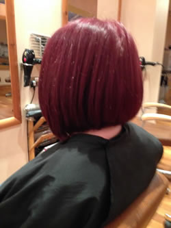 After reshape bob. Left profile view.