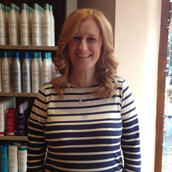 Coloured and styled hair at the hair and beauty centre marple. Front angle