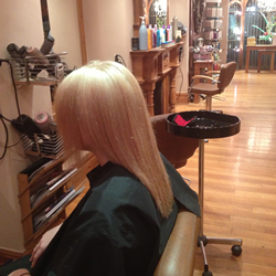 Coloured and styled hair at the hair and beauty centre marple