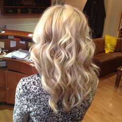 Cut and styled hair at the hair and beauty centre marple