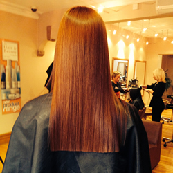 Red hair colouring. Back Angle