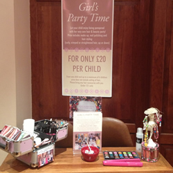 The hair and beauty centre Marple salon girl's party corner